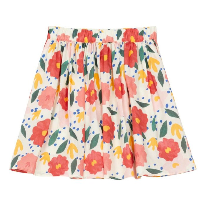 Floral Skirt Off White