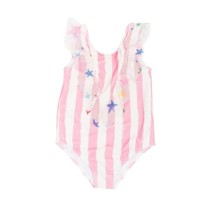 Swimsuit Pink Stripes