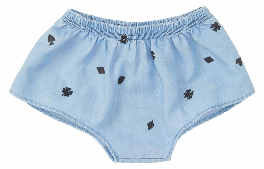 Skirt Short Playing Card Denim