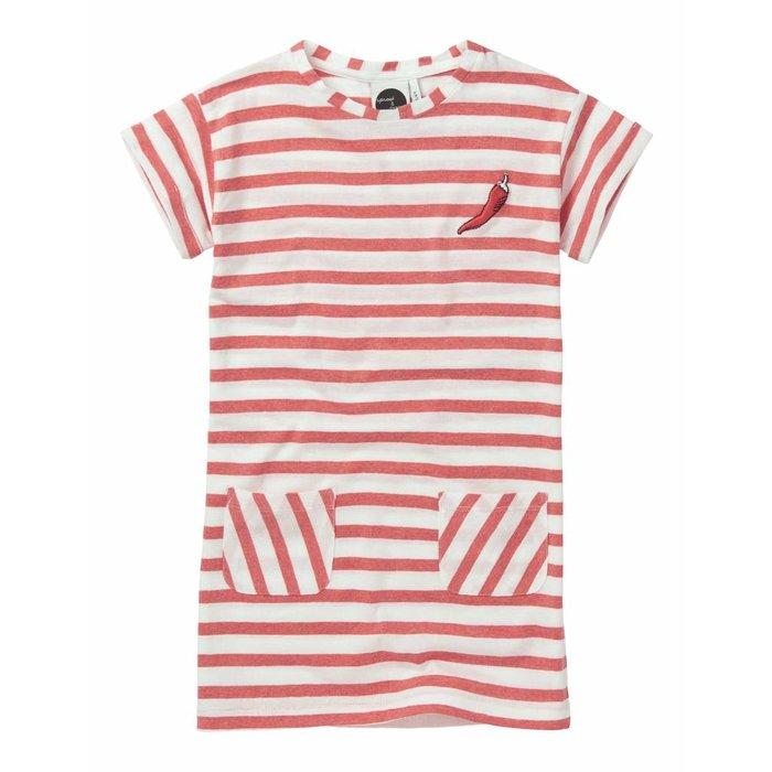 Tshirt Dress Stripe Red