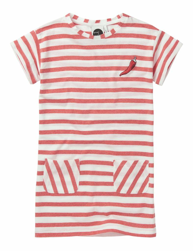 Tshirt Dress Stripe Red