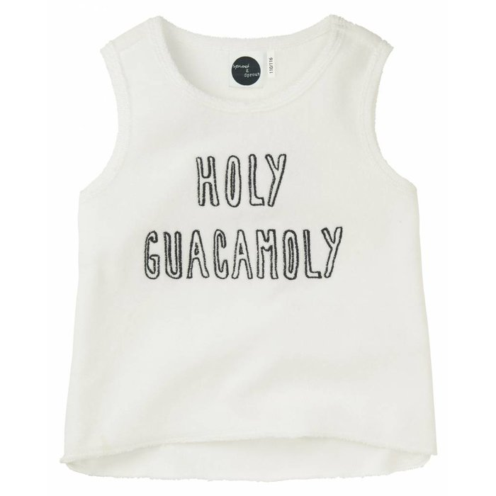 Tank Top Holy Guacamoly White