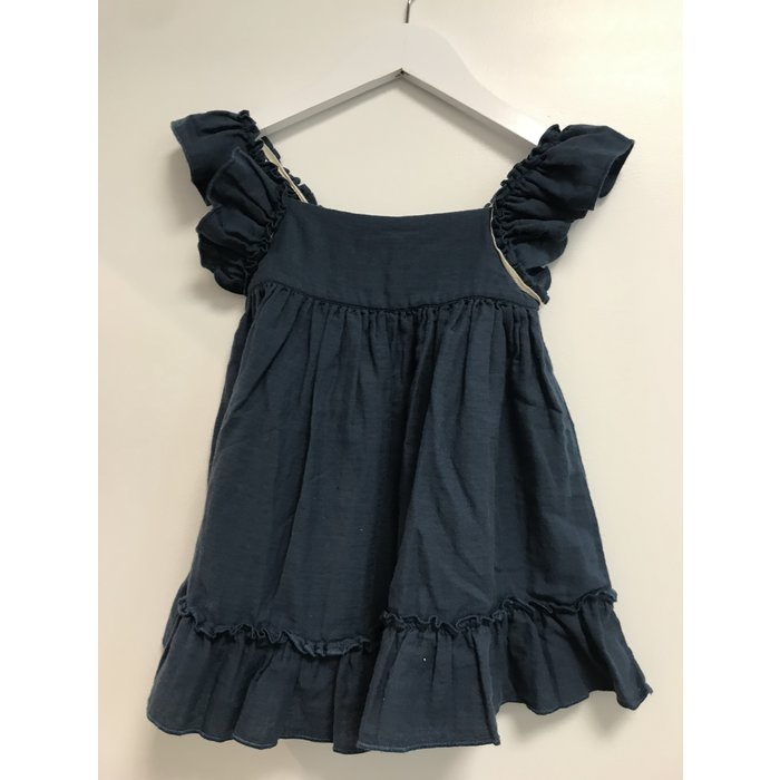 Pinafore Dress Arctic Blue
