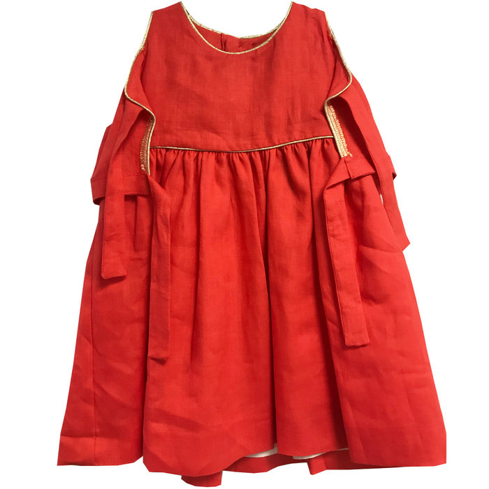 Athena Dress Coral