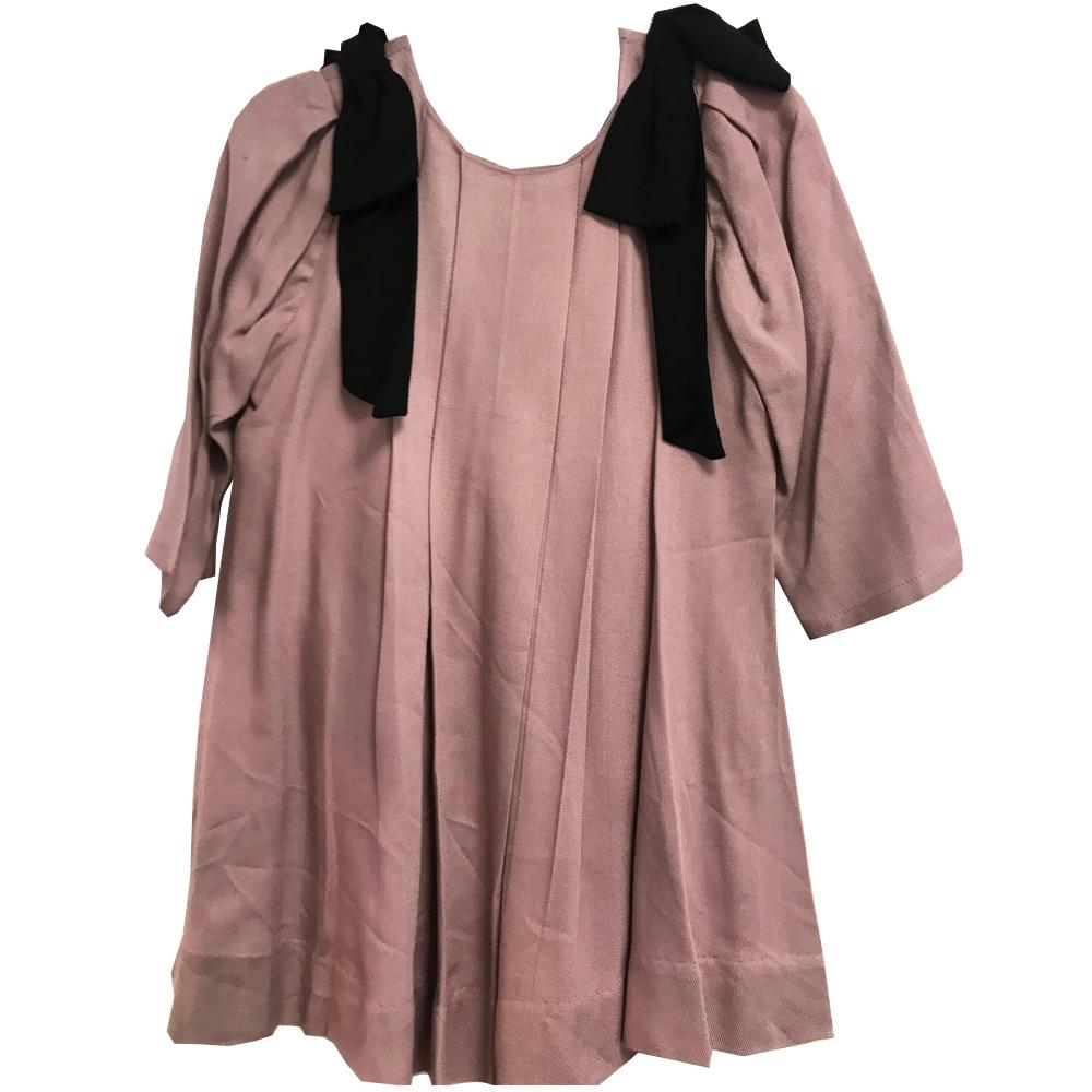 Julliet Dress Dusty Pink Bow