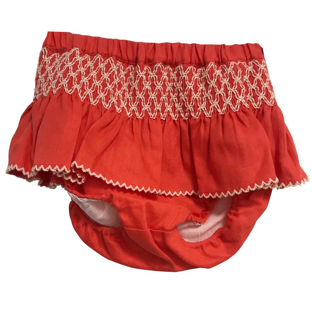 Linen Diaper Cover Coral