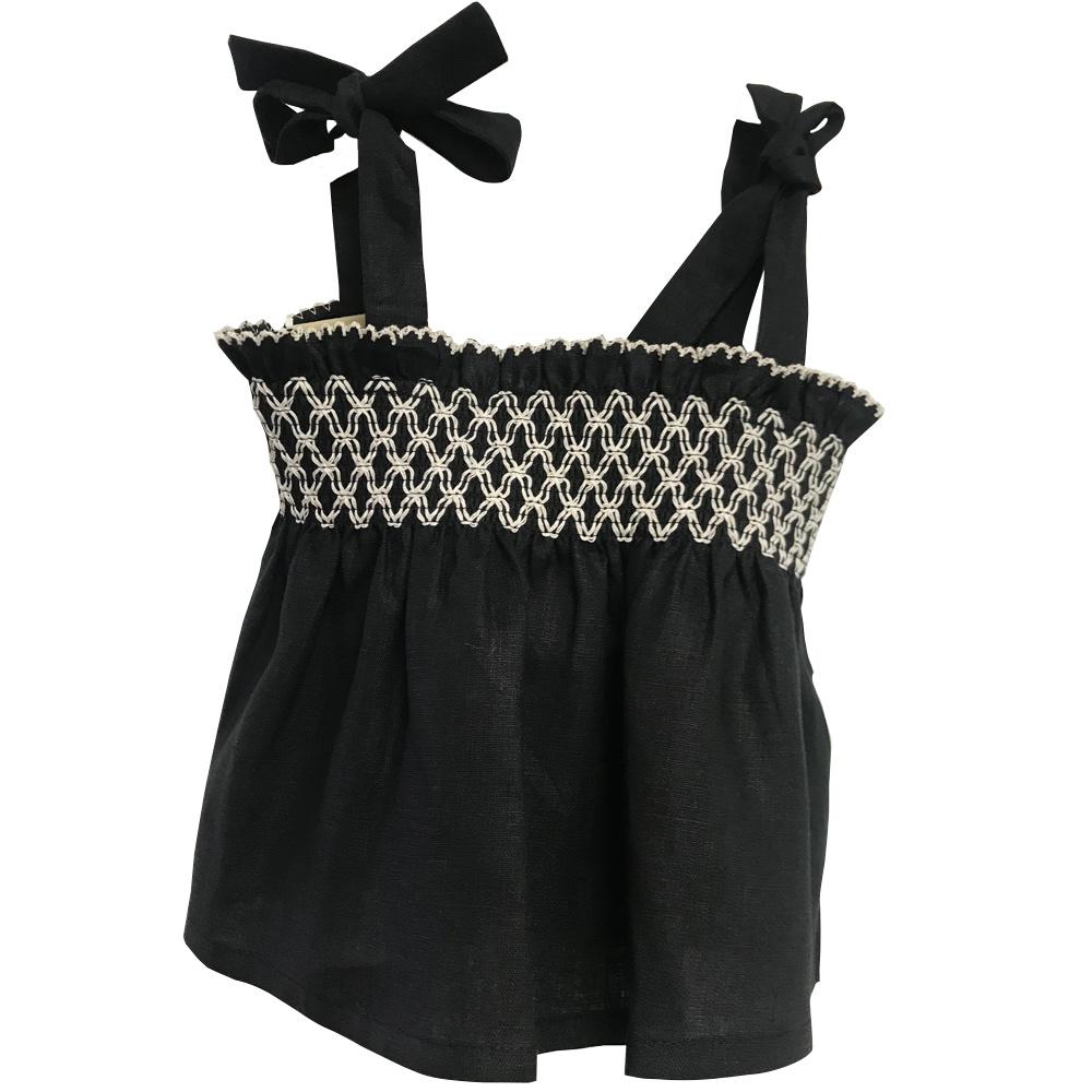 Alena Linen Shirt Black