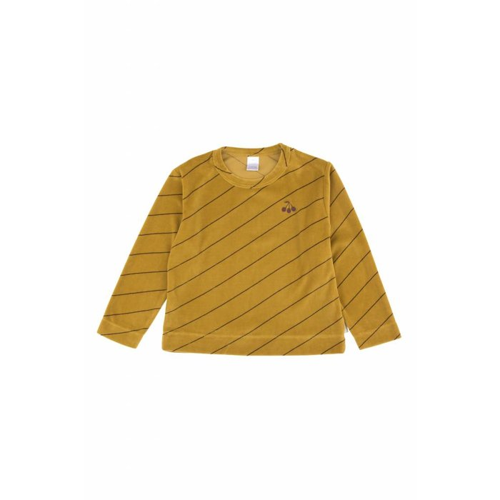 Diagonal Stripes Plush Sweatshirt