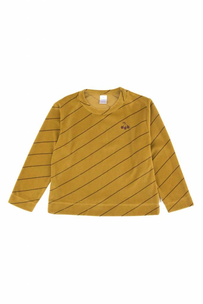 Diagonal Stripes Plush Sweatshirt