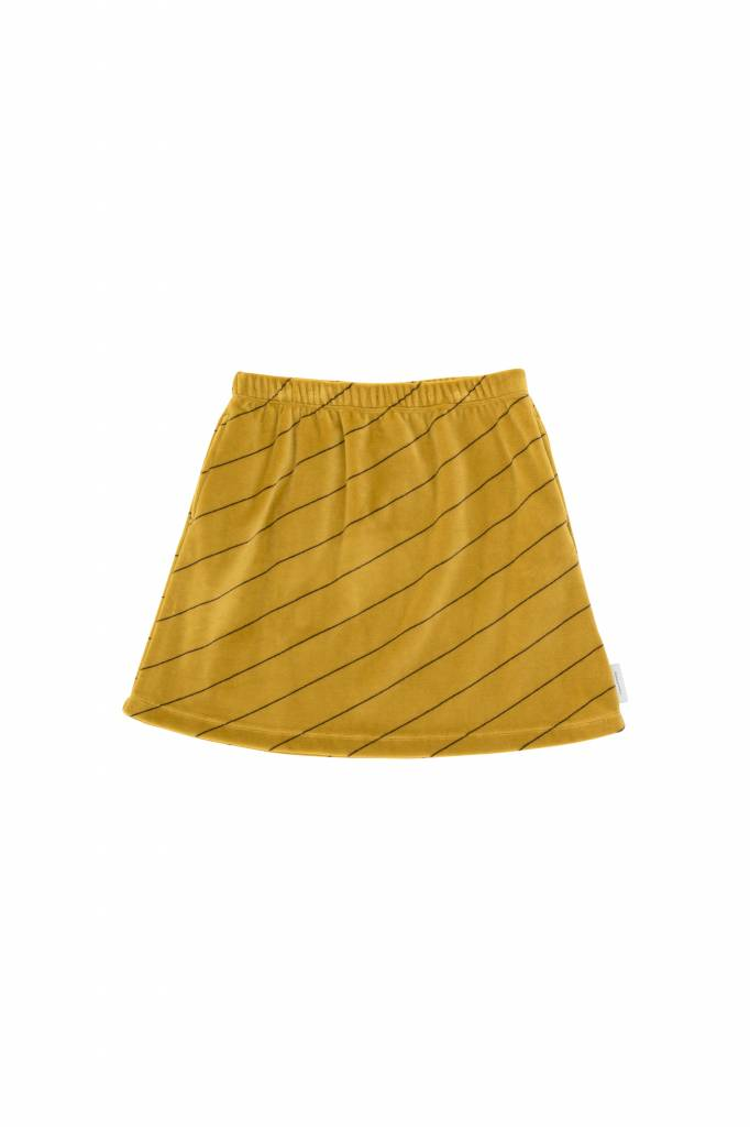 Diagonal Stripes Plush Skirt