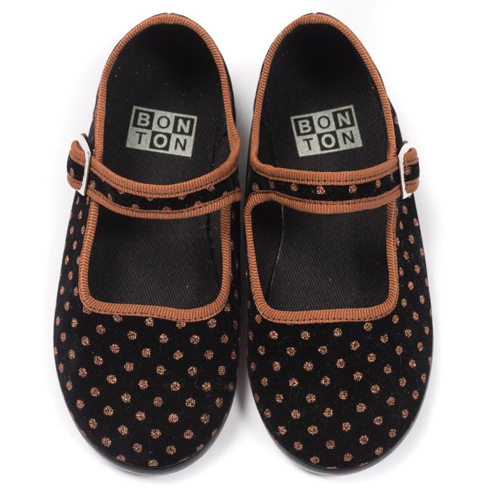 Chausson Boucle Pois Shoes Pois Marron