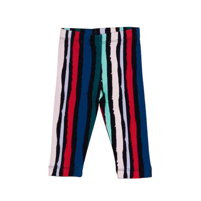 Leggings Black Winter Stripes