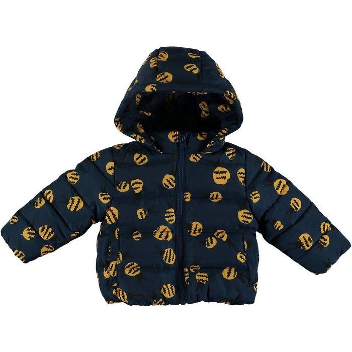 Bee Print Puffer Jacket