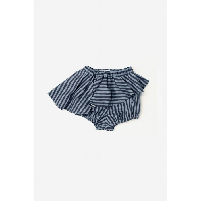 Skort Blue and Black Stripes