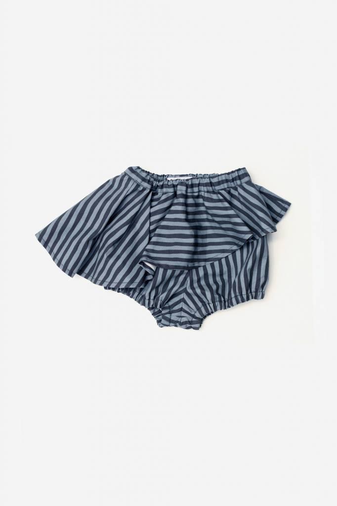 Skort Blue and Black Stripes