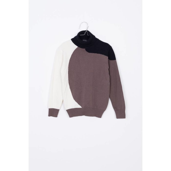 Eero Sweater Taupe/off white/black