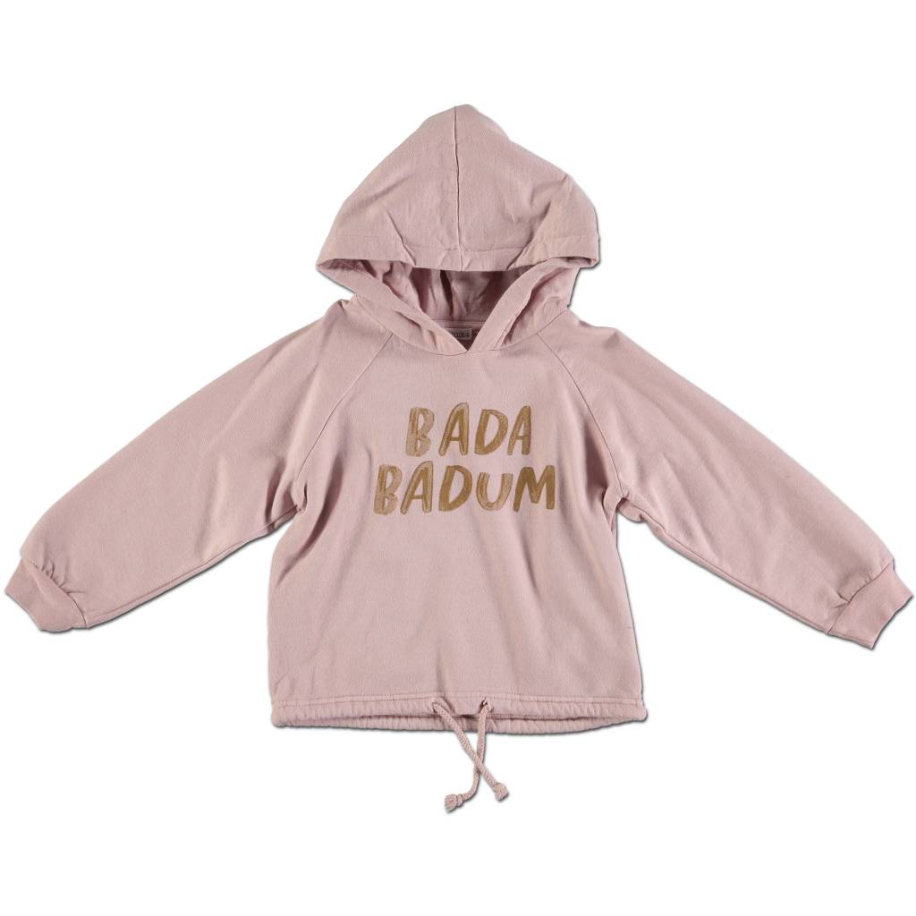 Kid Sweater Pink Gold Letters