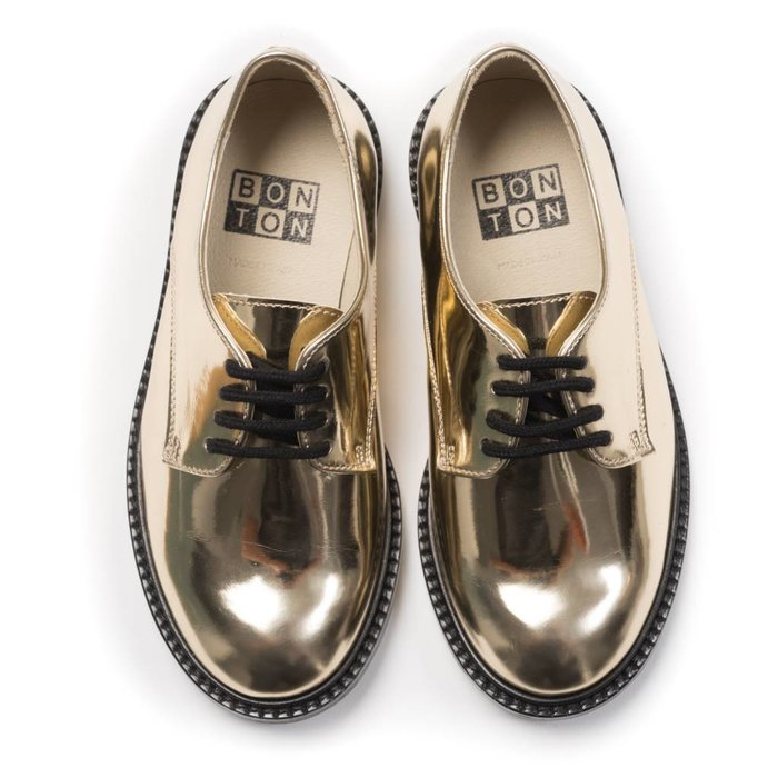 Derbies Miroir Shoes Dore