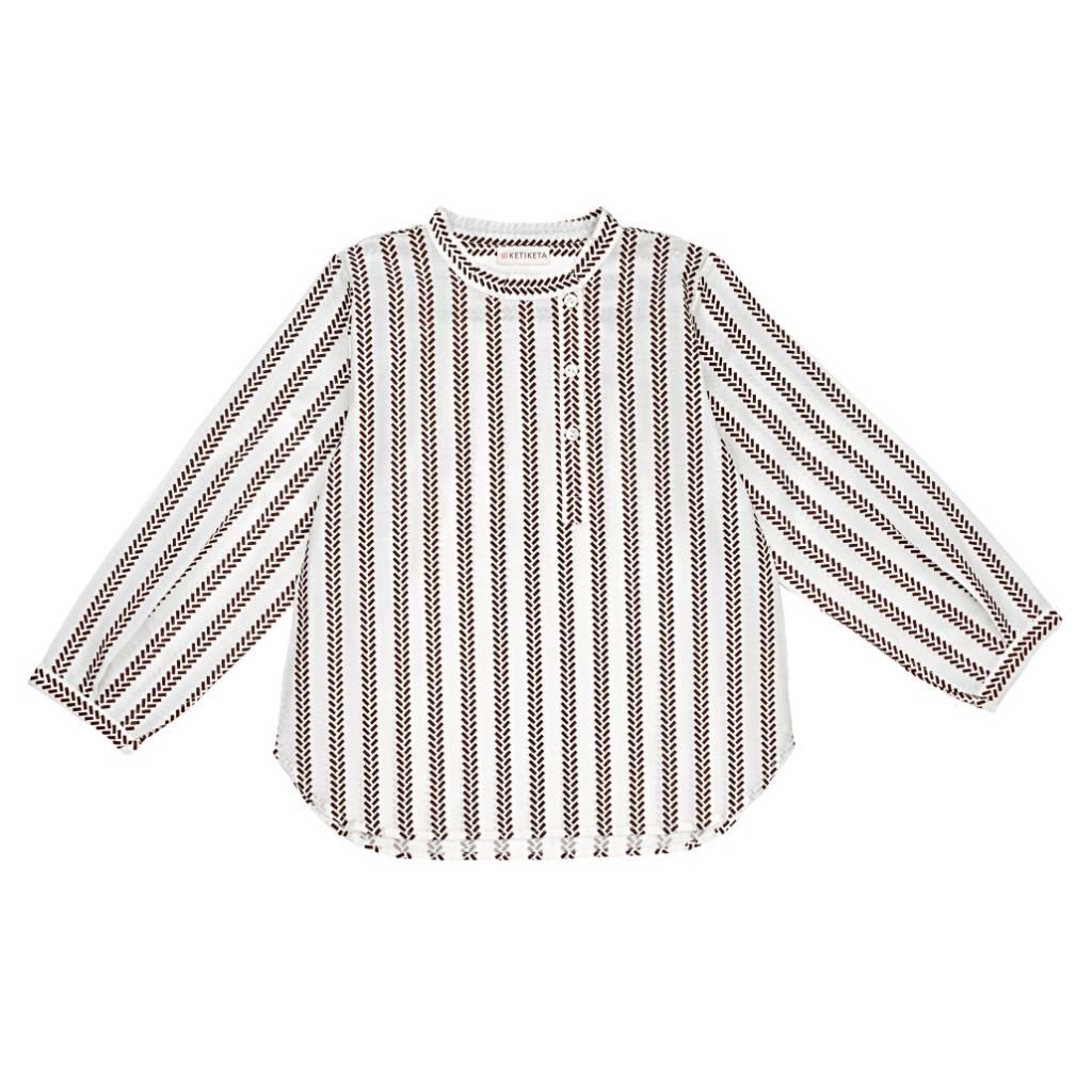 Vadim Shirt Winter White/brown