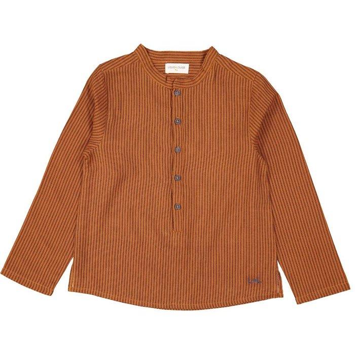 Grand Pere Shirt Stripes Cognac
