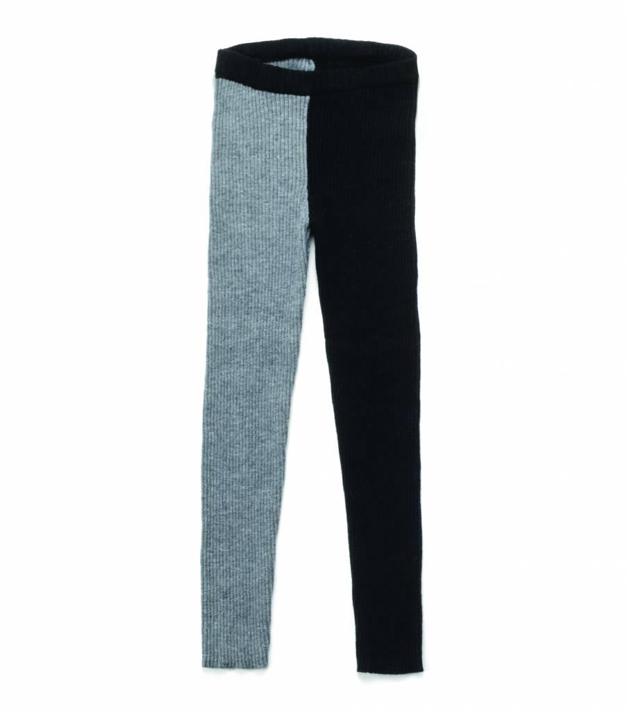 1/2 & 1/2 Knit Leggings Black/Heather Grey
