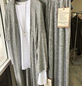 Demdaco gray lounge jacket