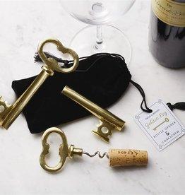 Golden Key Bottle Opener and Corkscrew