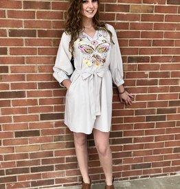 Delia Embroidered Dress