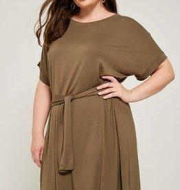 hayden olive green plus wrap dress