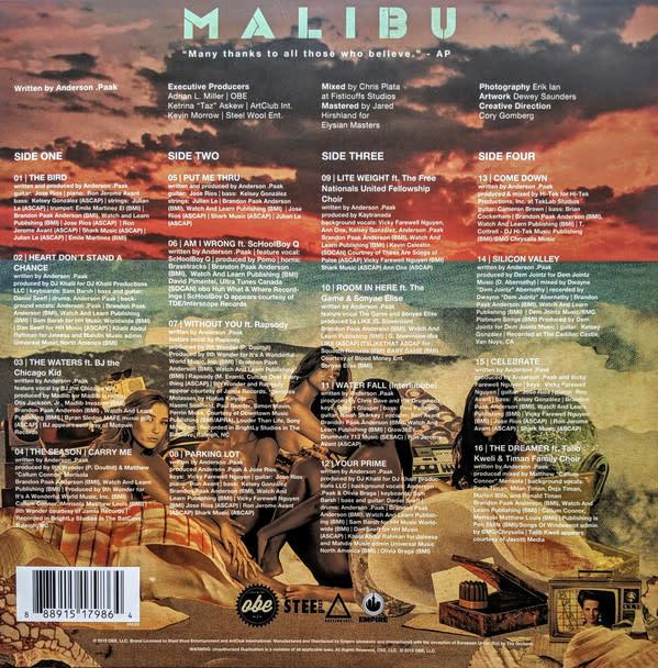 Anderson Paak - Malibu