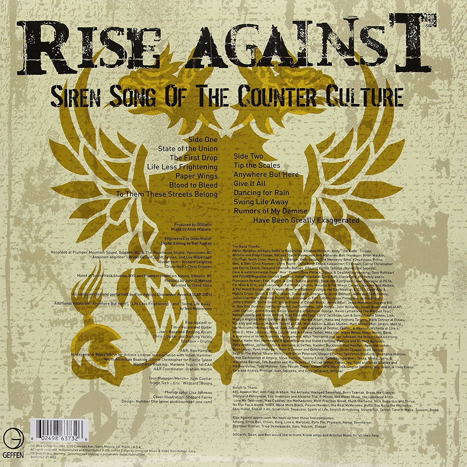 Rise Against ‎– Siren Song Of The Counter Culture