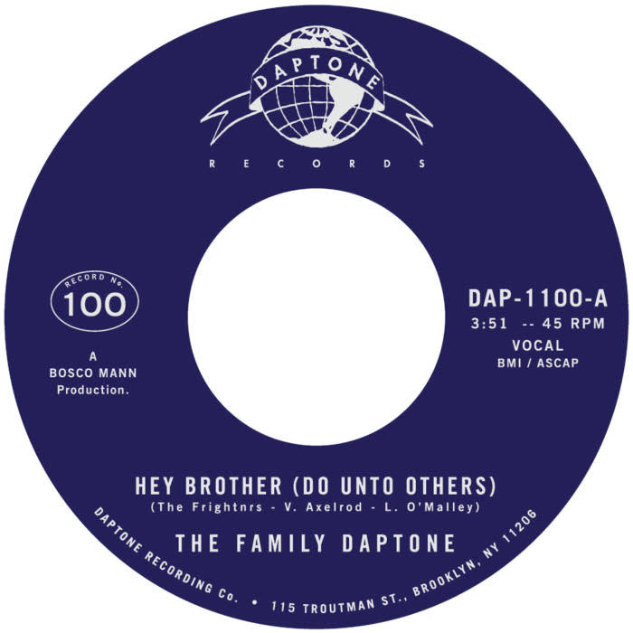 Family Daptone/100 Knights Orchestra - Hey Brother (Do Unto Others) / Soul Fugue