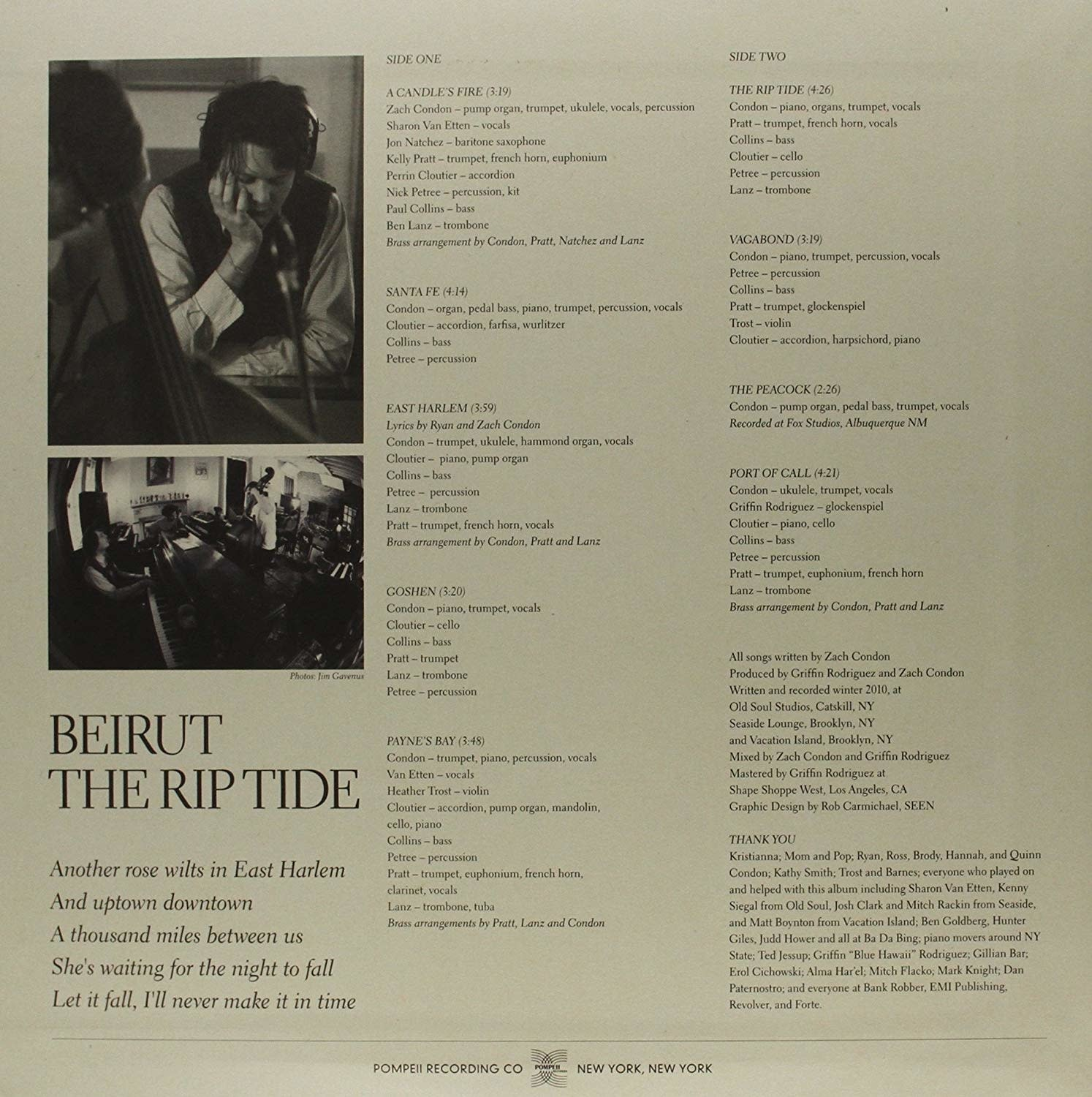 Beirut ‎– The Rip Tide