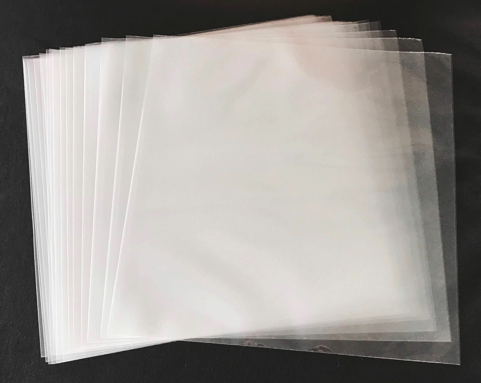 "25 Clear 12"" Poly Outer Sleeves"