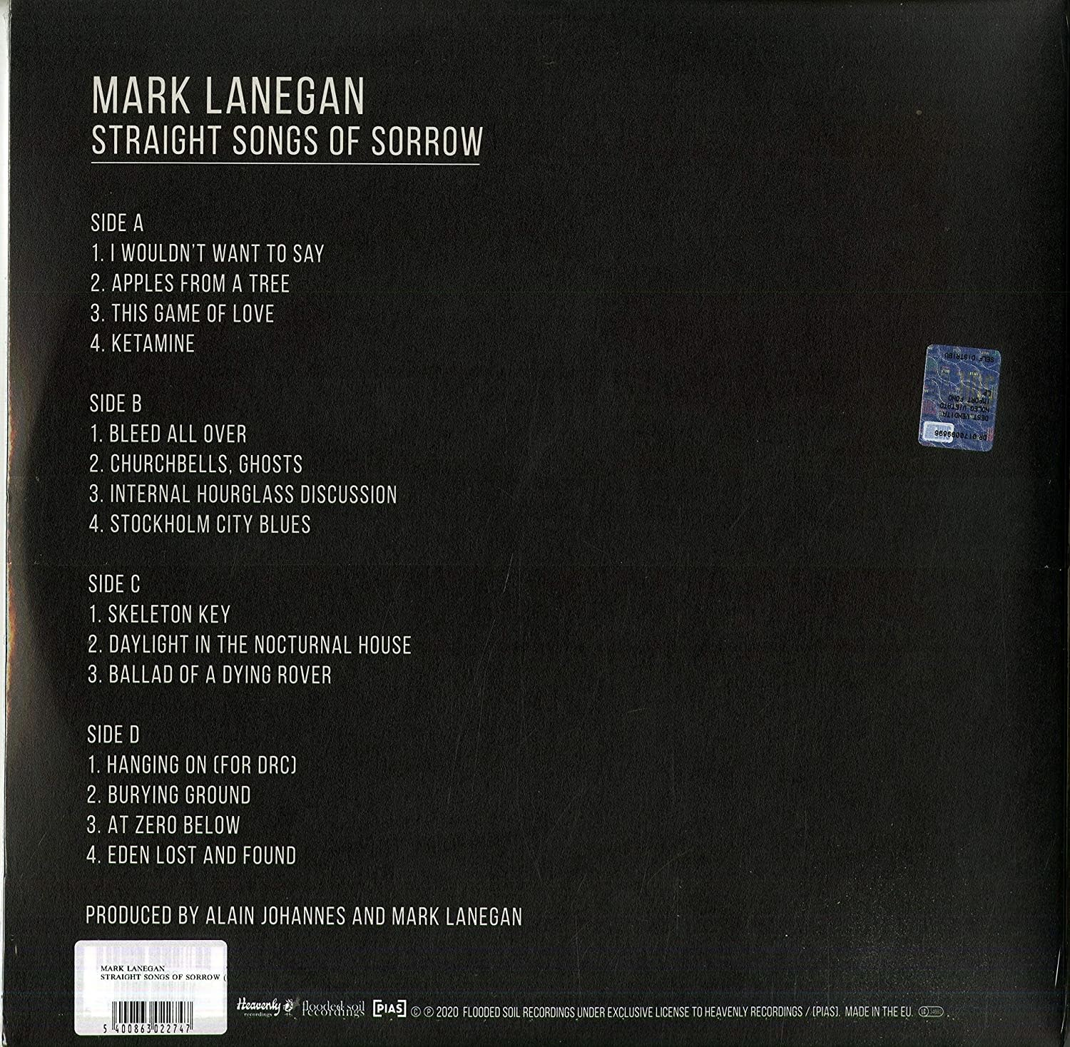 Mark Lanegan ‎– Straight Songs Of Sorrow