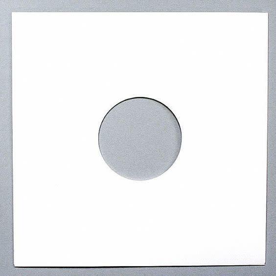 25 White Paper Inner Sleeves
