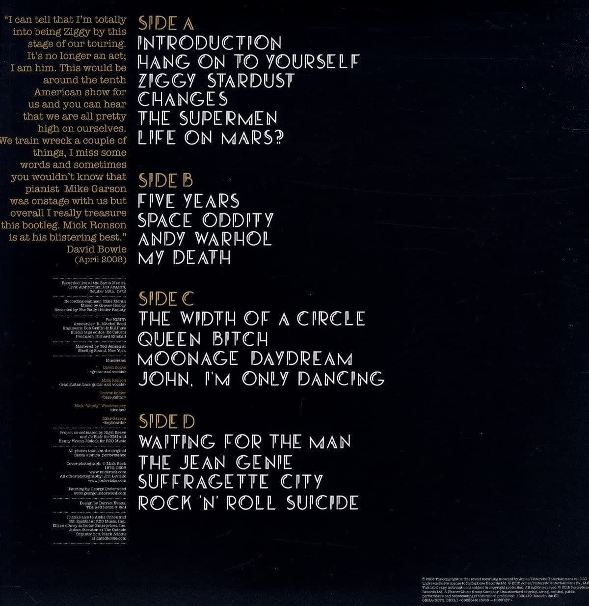 David Bowie – Live Santa Monica '72