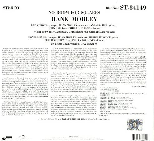 Hank Mobley – No Room For Squares