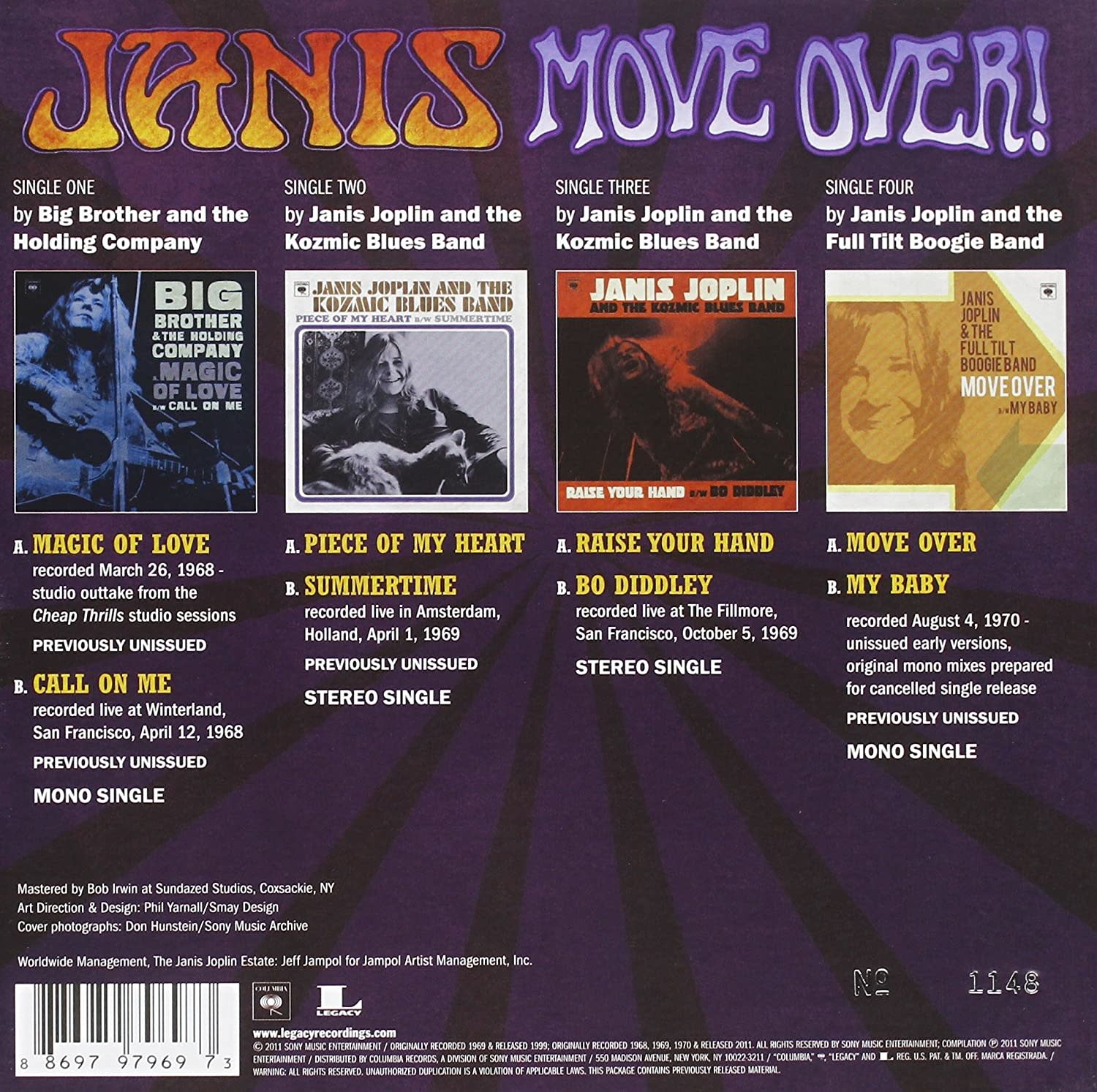 Janis Joplin ‎– Move Over!
