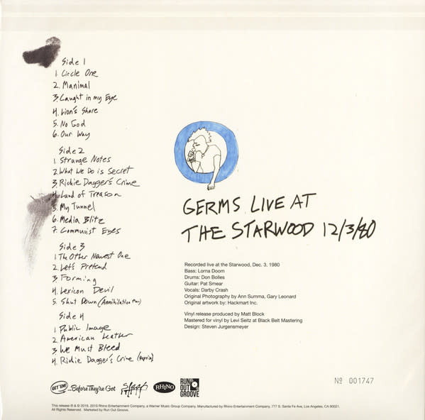 Germs – Live At The Starwood Dec 3, 1980