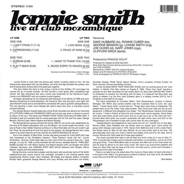 Lonnie Smith ‎– Live At Club Mozambique