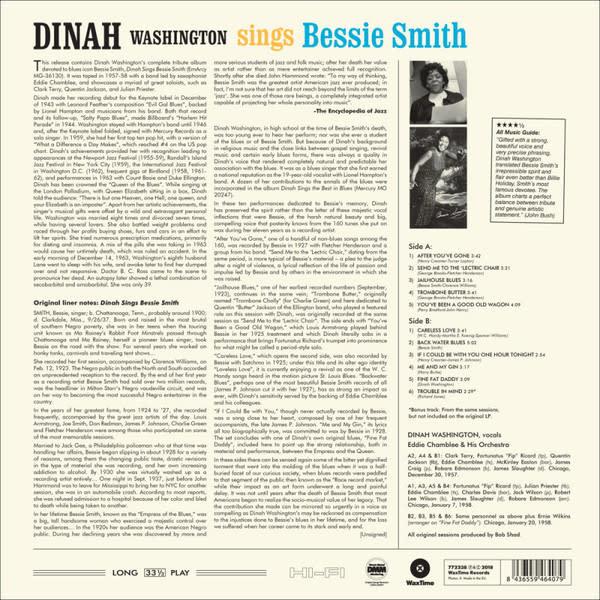 Dinah Washington – Sings Bessie Smith