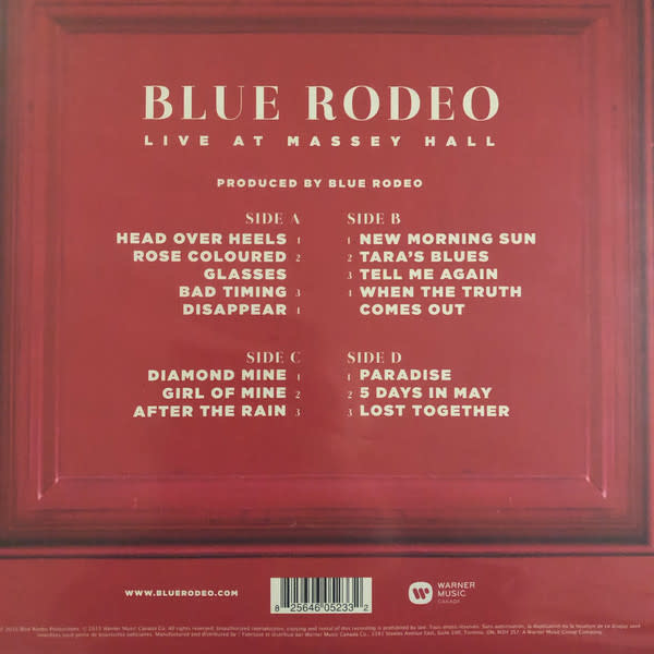 Blue Rodeo – Live At Massey Hall