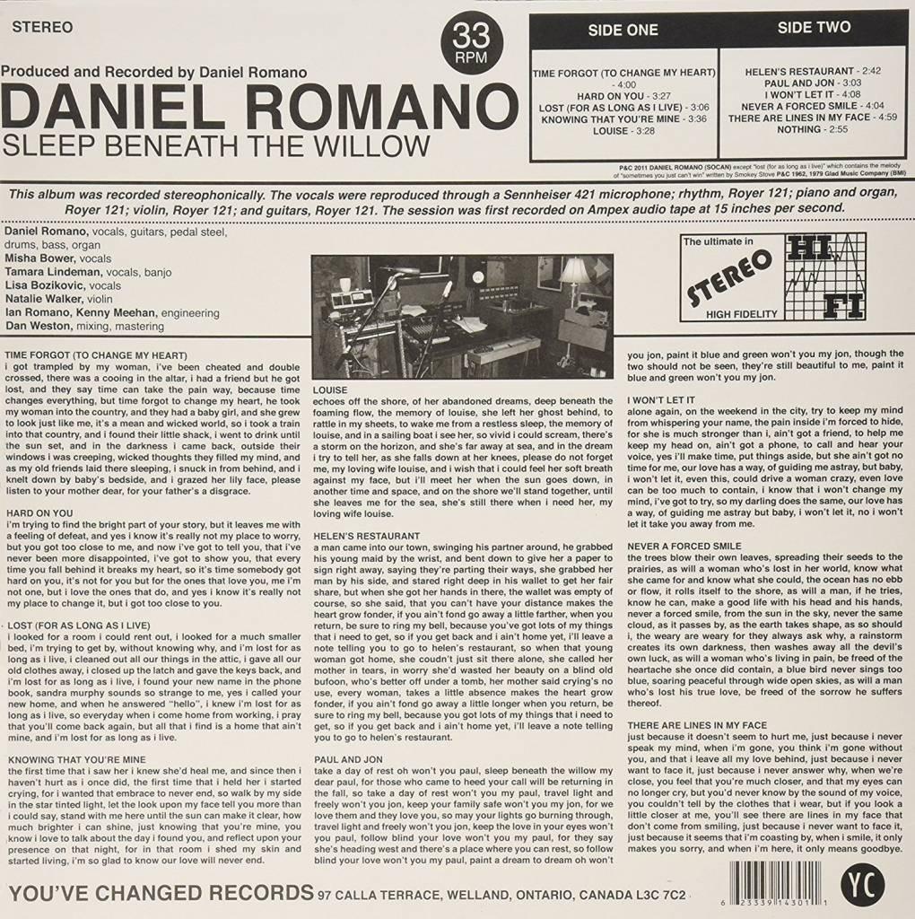 Daniel Romano - Sleep Beneath The Willow