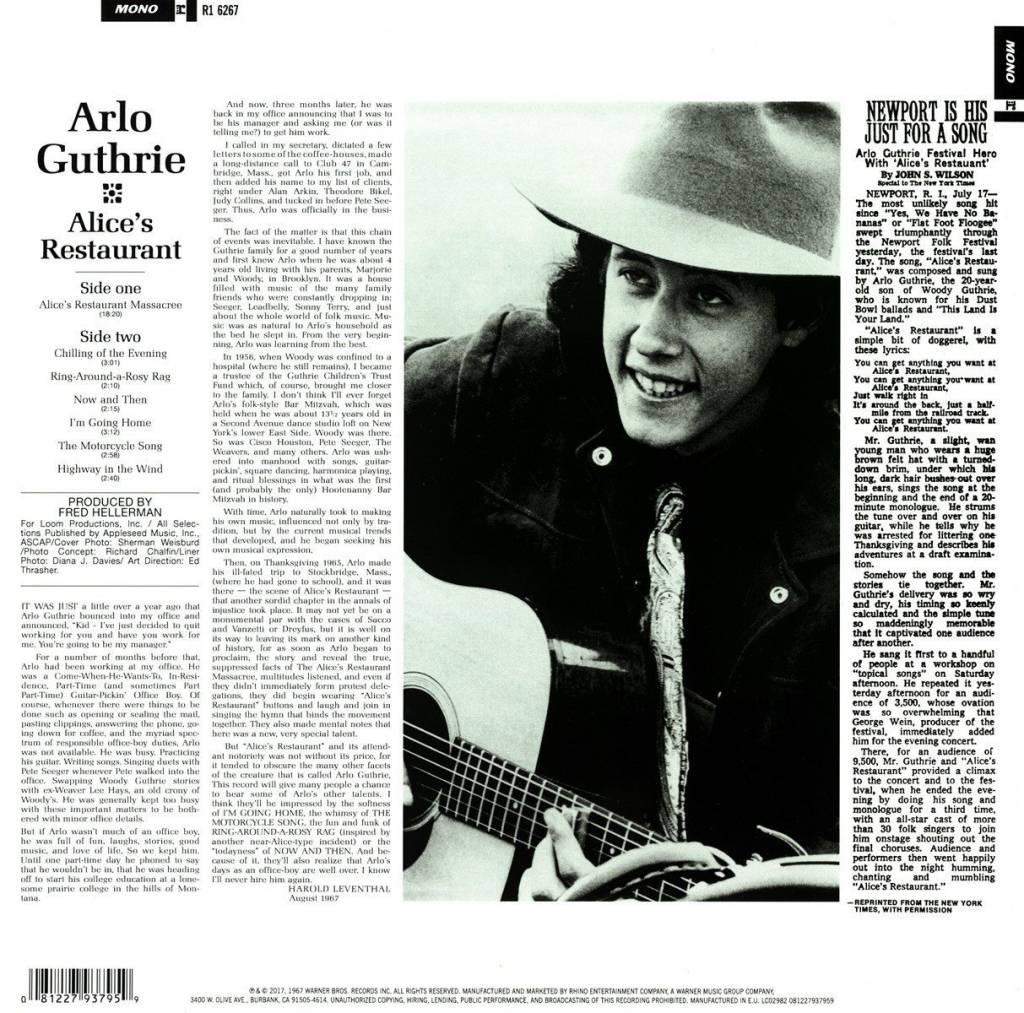 Arlo Guthrie - Alice's Restaurant (50th Anniversary)