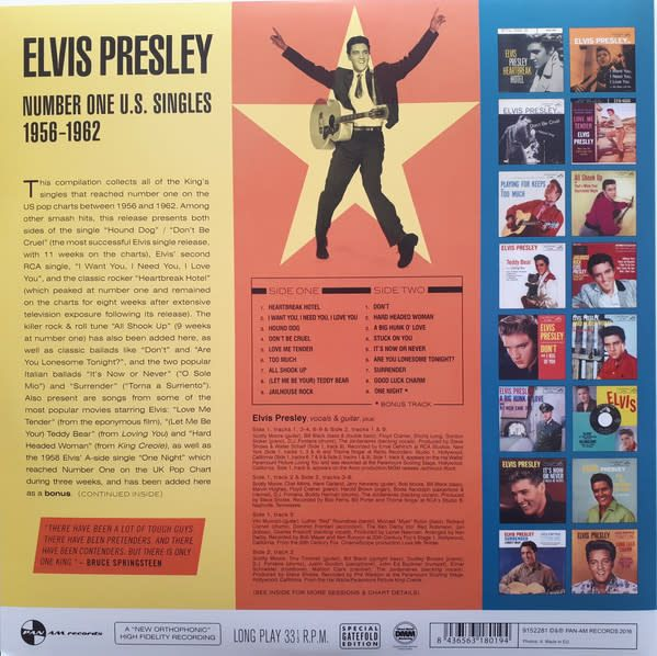Elvis Presley - Number One U. S. Singles 1956-62