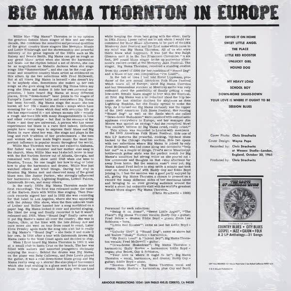 Big Mama Thornton - In Europe