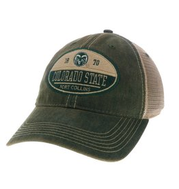 LEGACY ATHLETIC APPAREL COLO STATE SPLIT OVAL PATCH OFA TRUCKER HAT