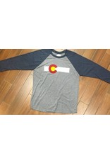ST OF COLO FLAG STRIPE TRI-BLEND BASEBALL TEE