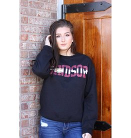 WINDSOR CO GLITTER CREW SWEATSHIRT
